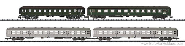 Trix 15471 DB Fast Passenger Train 4-Car Set (Exclusive