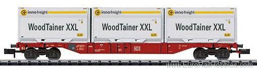 Trix 15519 DB AG ''WoodTainer'' Container Flat Car