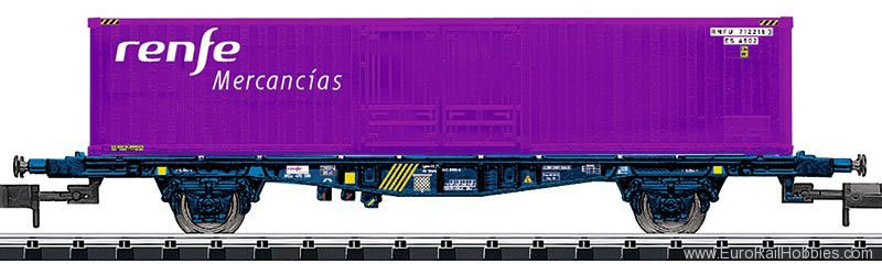 Minitrix 15649 RENFE Container Transport Car