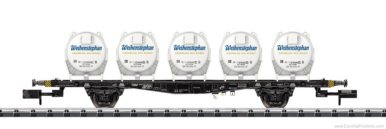 Minitrix 15742 DB 'Weihenstephan' Container Transport Car