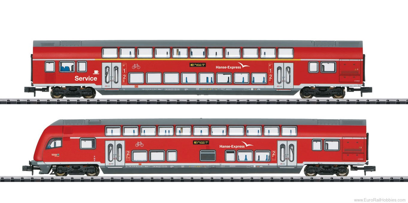 Minitrix 15776 DB AG 'Hanseatic Express' Bi-Level 2-Car Set