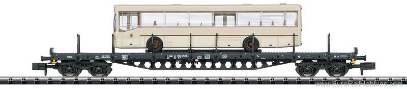Minitrix 15862 DB Freight Car with City Bus