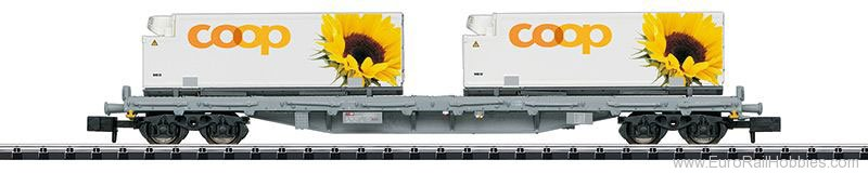 Minitrix 15937 SBB Flat Car with Containers