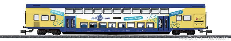 Minitrix 15945 Metronom Bi-Level Car, 2nd Class w/Built-in L