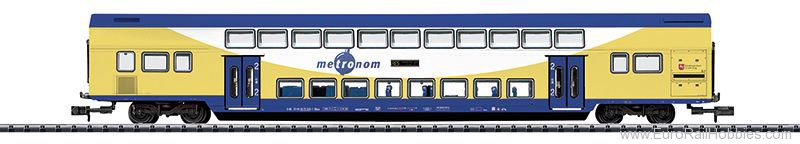 Minitrix 15947 Metronom Bi-Level Car, 2nd Class w/Built-in L
