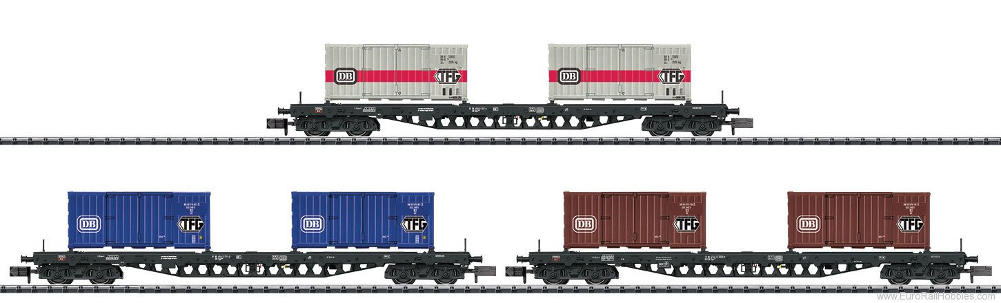 Minitrix 15961 'Container Transport' Freight Car Set