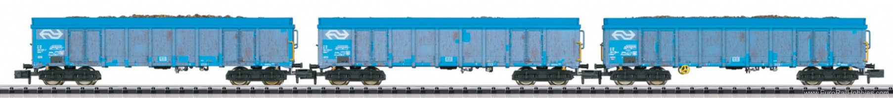 Minitrix 15994 NS Wood Chips Transport Freight Car Set