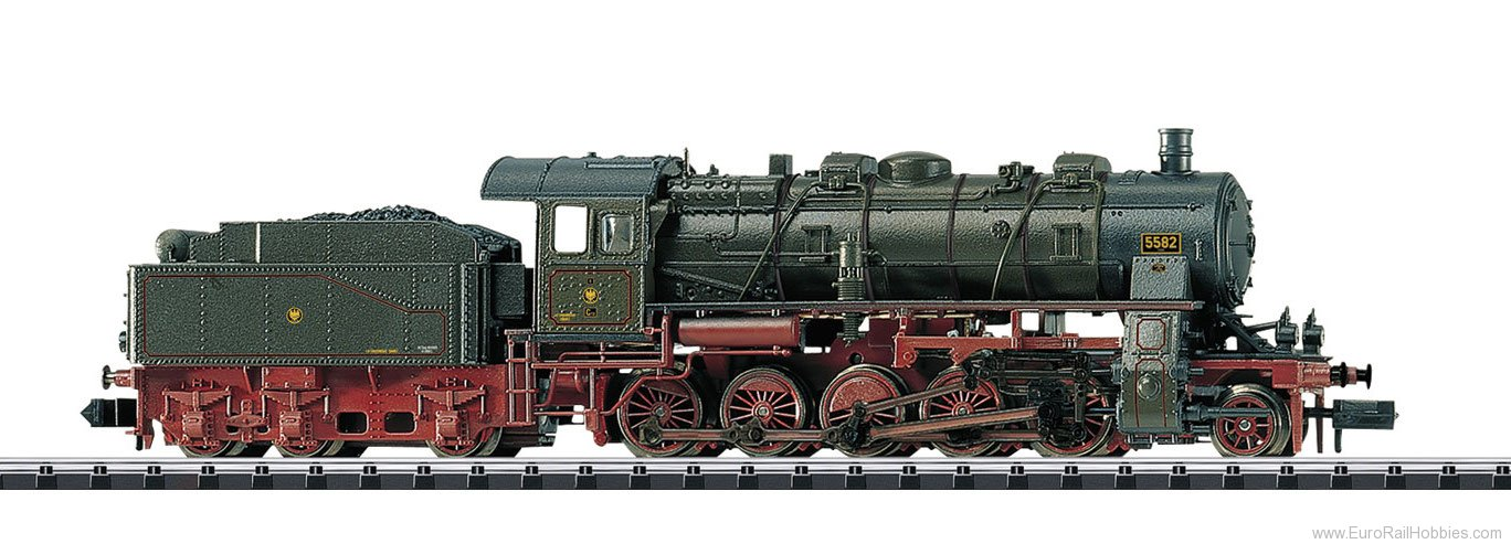Minitrix 16582 KPEV Prussian cl G12 Steam Freight Locomotive