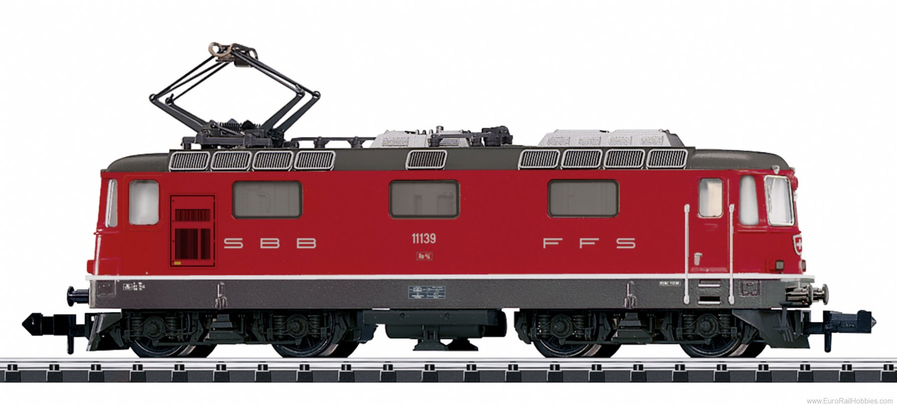 Minitrix 16882 SBB cl Re 4/4 II Electric Locomotive, DCC w/S