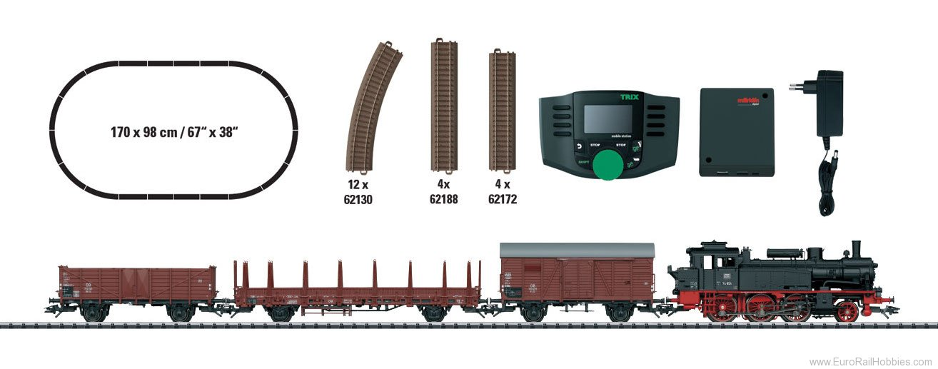 Trix 21528 DB Digital 'Era III Freight Train Starter Set