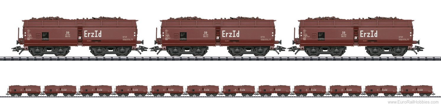 Trix 24120 DB Erz Id Hopper 12-Car Set, w/Loads (New Too