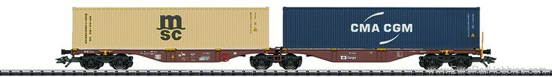 Trix 24800 CD Cargo Type Sggrss 80 Double Container Car