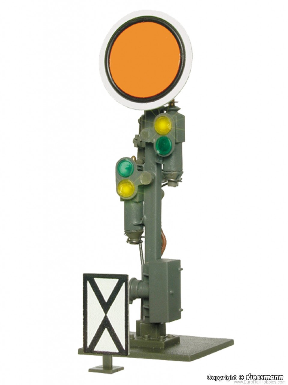Viessmann 4509 HO Semaphore distant signal, movable disk