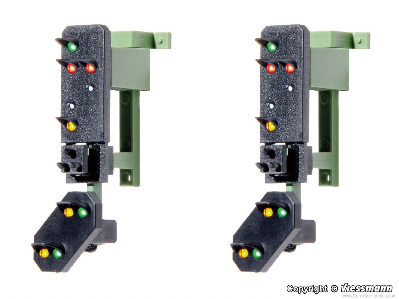 Viessmann 4751 HO Daylight signal heads with distant signal