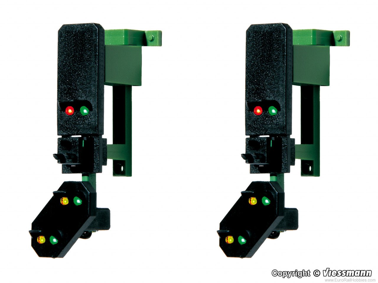 Viessmann 4752 HO Block signal heads with distant signal and