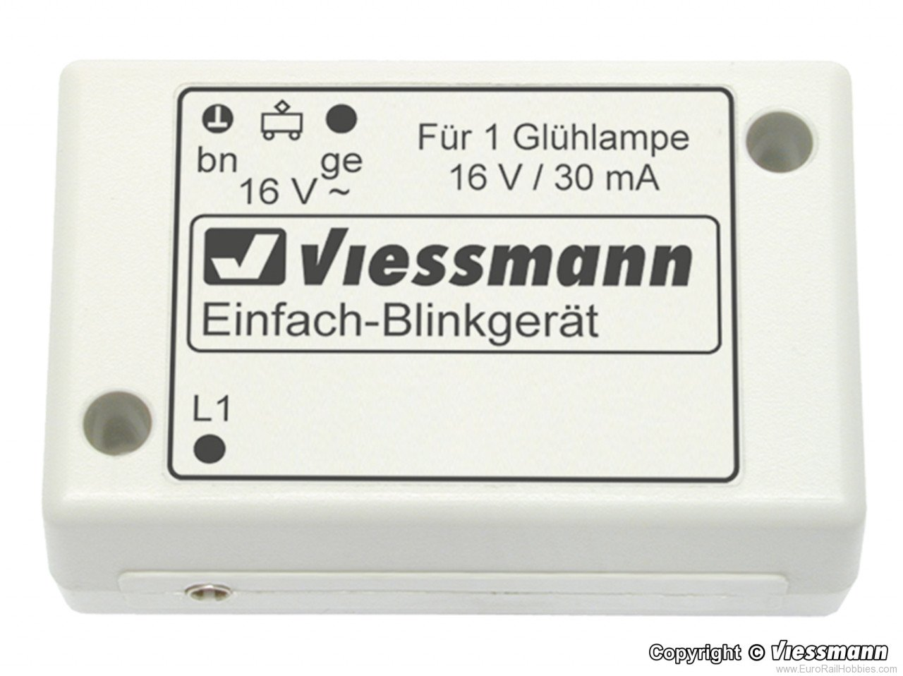 Viessmann 5035 N Single blinker unit with one blue bulb
