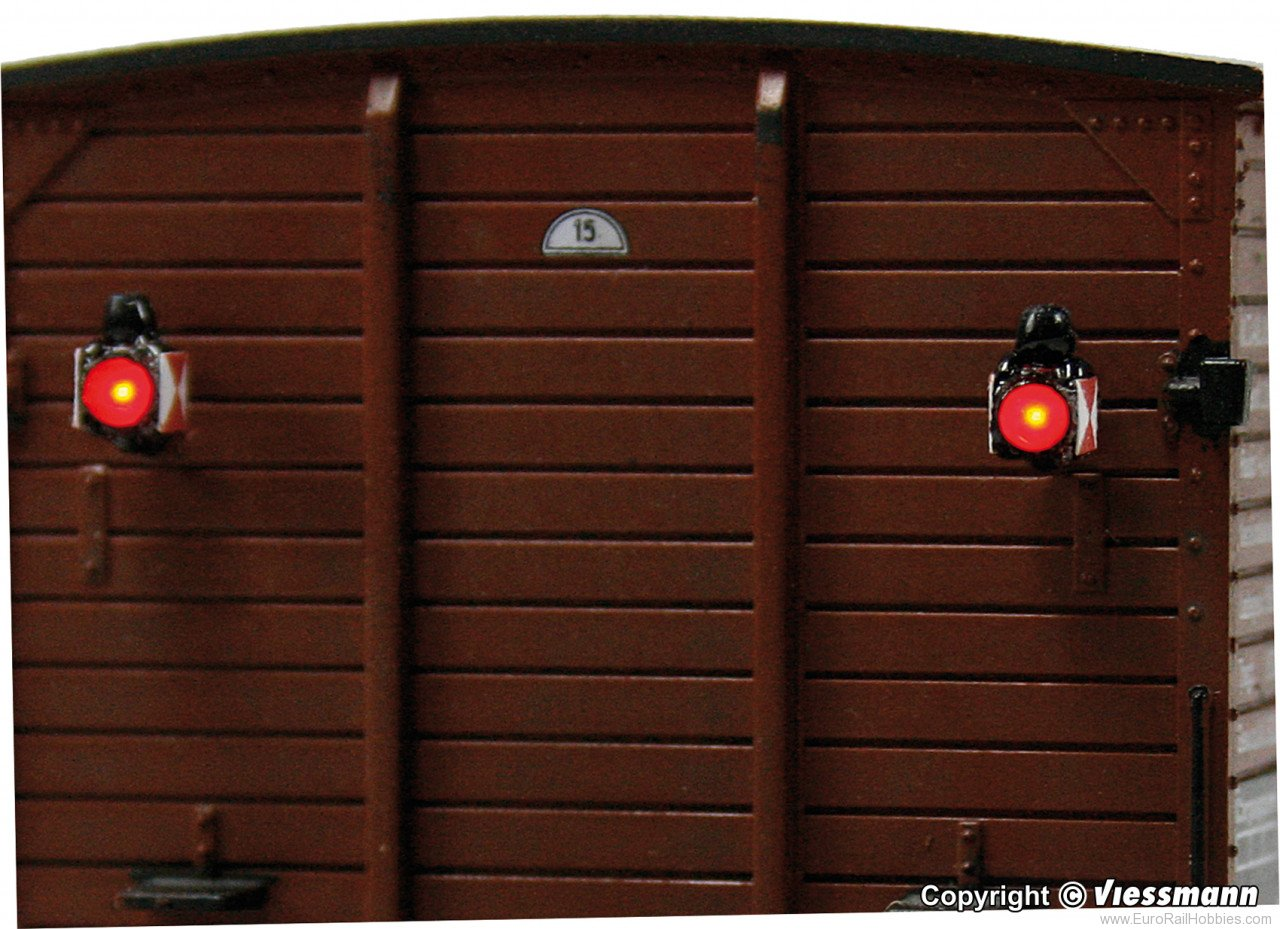 Viessmann 5069 HO Train rear lanterns with LED, 2 pieces