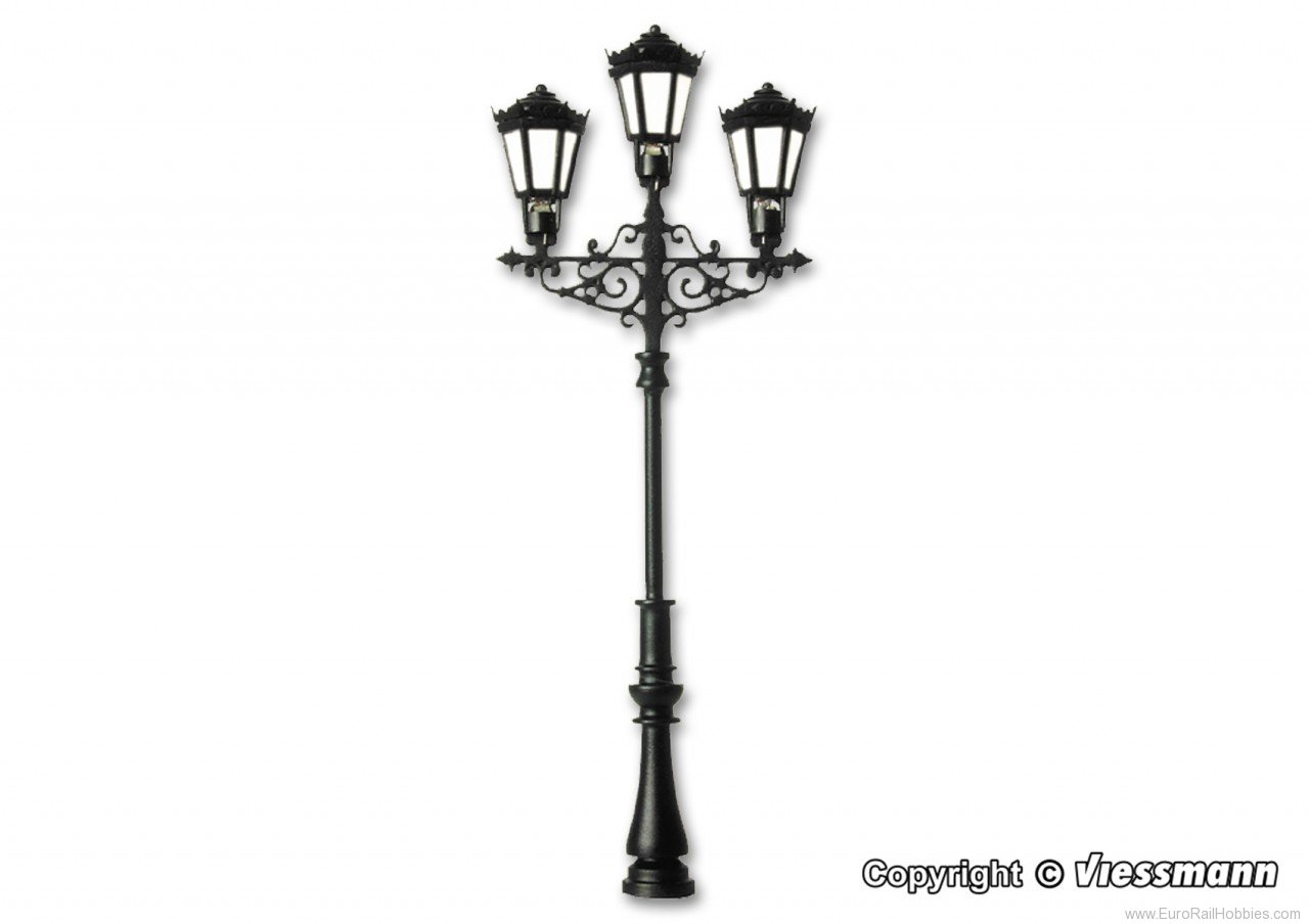 Viessmann 6398 HO Gas lamp, triple