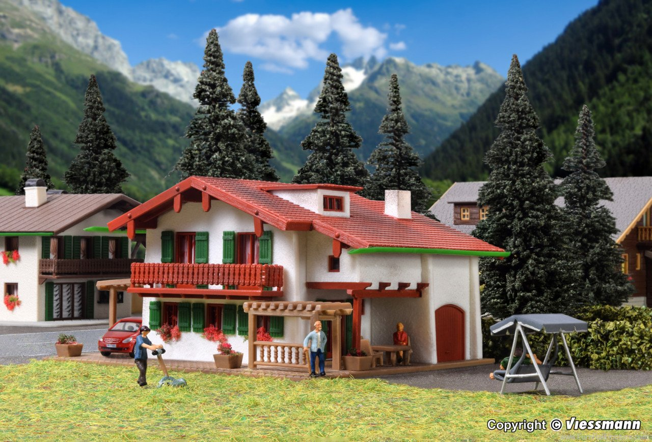 Vollmer 47754 Chalet Edelweiss with carport