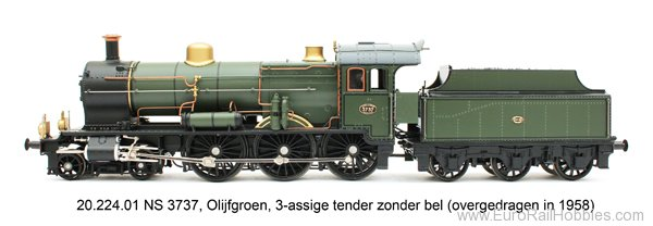 Artitec 21.224.01 Dutch Steam Locomotive NS 3737, Marklin Digit