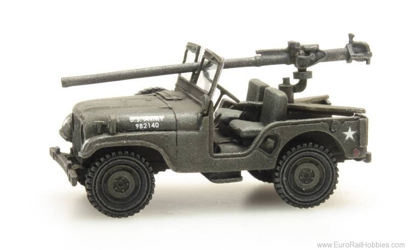 Artitec 387.307 US M38 Jeep + 106mm AT Gun