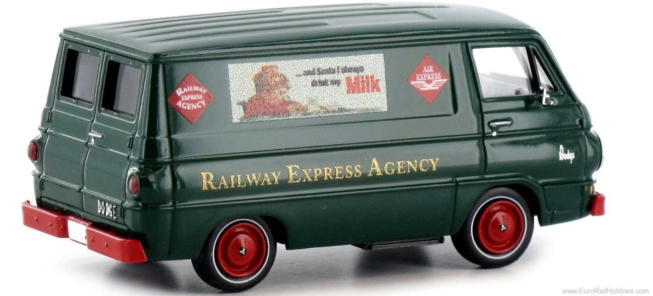 Brekina 34367 Dodge A 100 Van (RAILWAY EXPRESS AGENCY - MIL