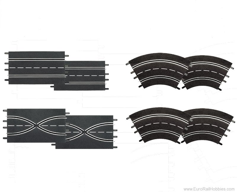 Carrera 26953 Extension set (2 straights, 2 lane change sec
