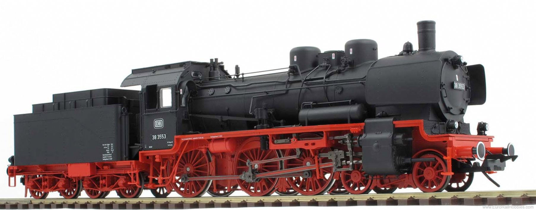 Lenz 40237.01 DB BR 38/P8 Steam Locomotive w/box tender and