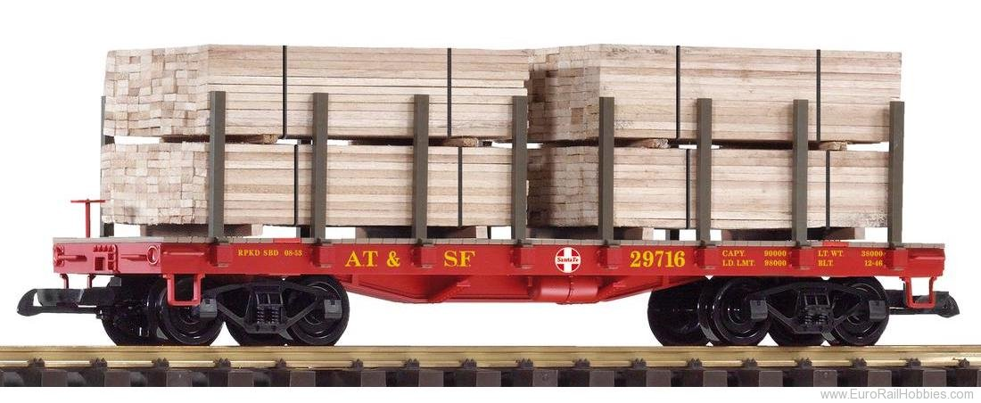 Piko 38740 G Flat Car w. Wood Load SF