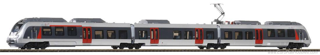Piko 40205 N-Set 2, 3 Piece Set, Electric Talent Railcar
